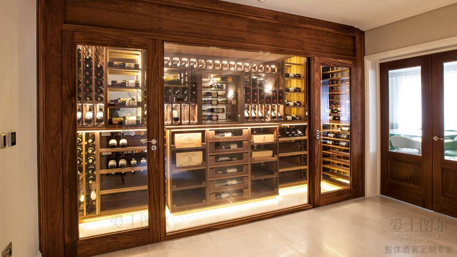广州东莞定制实木红酒恒温酒柜项目
